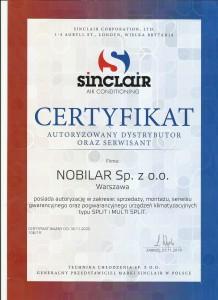 sinclair certyfikat